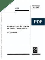 761-1997 Guantes Dielectricos de Goma