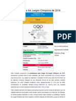Candidaturas a los Juegos Olímpicos de 2016.docx