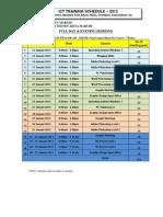 Jadual Kelas Ict Januari