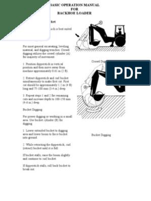 Backhoe Loader Basic Operation Manual   Loader (Equipment