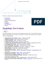 Psychology Free Courses