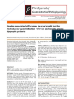 Journal- Gender Associated Diff in Urea Breath Test for h. Pylori