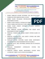 Latest_innovative_ Svsembedded_m.sc_major Project Titles - 2013