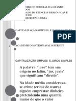 Apresentação juros simples capitalização simples