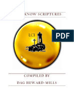 Must Know Scriptures