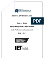Course Guide 2010 STECH MENG and BENG (Hons) Mechatronics (With Professional Development) IET Accredited Course