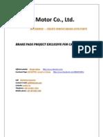 Ningbo Motor -- MOTORMAN --Brake pads for CARGO