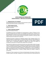 Acta Consejo Ordinario Mayo