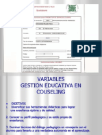 VARIABLES de Gestion Mental