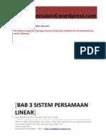Bab III Sistem Persamaan Linear b Menyelesaikan Spl 3 Variabel