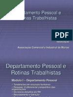 Departamento Pessoal e Rotinas Trabalhistas