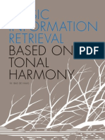 De Haas, W. B. (2012). Music Information Retrieval Based on Tonal Harmony.