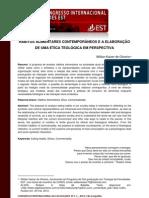 HÁBITOS ALIMENTARES CONTEMPORÂNEOS E A ELABORAÇÃO DE UMA ÉTICA TEOLÓGICA EM PERSPECTIVA