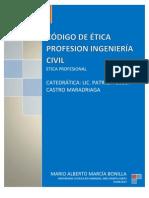 CÓDIGO DE ETICA PROFESIONAL DE INGENIERÍA CIVIL