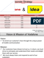 Corporate Strategy of Vodafone and idea