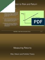 Risk, Return, And Portfolio Theory