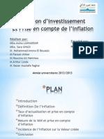 Decision Investissement Et Inflation