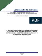 A Aplicabilidade Das Novas Normas Brasileiras de Contabilidade