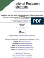 Bitektine a., Prospective Case Study Design , Qualitative Method for Deductive Theory Testing,2008 11160 Originally Published Online 23 July 2007 Organizational Research Methods