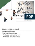 Market Segmentation -Unit 2