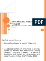 HUMANISTIC NURSING THEORY