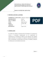 (ELC101) Modelación y simulación de sistemas (PROGRAMA ANALÍTICO)