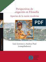 Perspectiva de Investigacion en Filosofia_Aporias de La Razon Moderna_Final