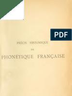 Precis Historique de Phonetique Francaise