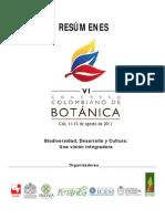 Resumenes VI Congreso Colombiano de Botanica