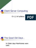 Chap 2.Client Server Computing (Ch1,2)