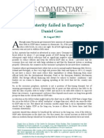 Has Austerity Failed in Europe
