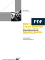 How to Create Modules for the J2EE Adapter Engine