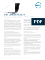Dell Latitude E5530 Spec Sheet