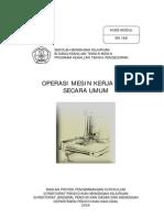 Operasi Mesin Kerja Kayu Secara Umum
