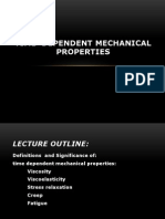 2012 Time Depandant Mechanical Properties, Viscosity, Viscoelasticity