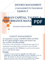 Human Capital, Talent, & Performance Management