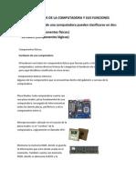 ELEMENTOS BÁSICOS DE LA COMPUTADORA Y SUS FUNCIONES