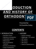 Introduction and History of Orthodontics