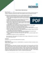 Sr. Server Administrator - Job Description