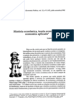 História econômica, teoria econômica e economia aplicada