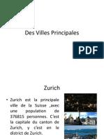Des Principales Villes