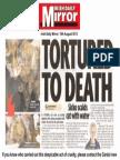 Irish cat tortured to death