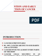 Prevention & Detection of CANCER