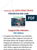 SURGICAL SITE INFECTION.- prevention and Care