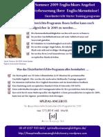 Sommer Angebot German Version One-To-One Einzelunterricht Introductory Package