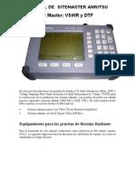 Manual de Sitemaster Anritsu