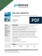 Act Like a Sales Pro Hansen en 15865