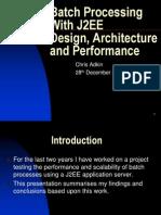 J2EE Batch Processing