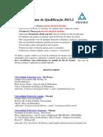 Locais Aplicadores Exame Qualificacao 2013.2
