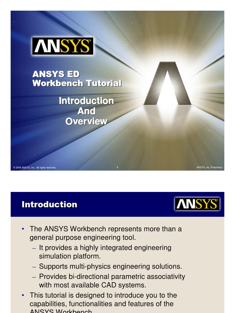 ANSYS 10[1] 0 Workbench Tutorial - Introduction and Overview